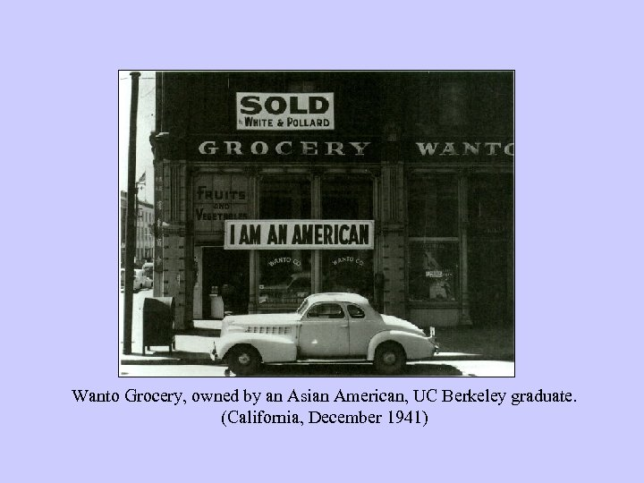 Wanto Grocery, owned by an Asian American, UC Berkeley graduate. (California, December 1941)