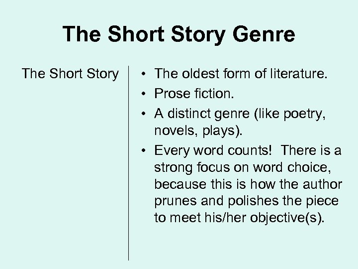 the fall into the short story genre 21st-century short story writers run into the thousands  classic stories are the fall of the house of  the short story cycle: a genre companion and reference.
