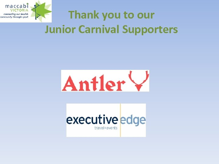 Thank you to our Junior Carnival Supporters