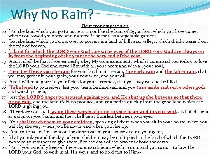 Why No Rain? 10 11 12 13 14 15 16 17 18 19 20