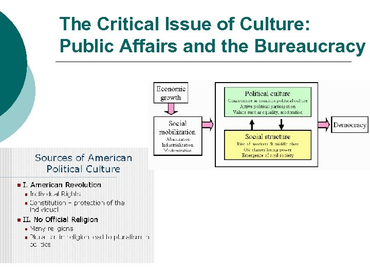 The Critical Issue of Culture: Public Affairs and the Bureaucracy