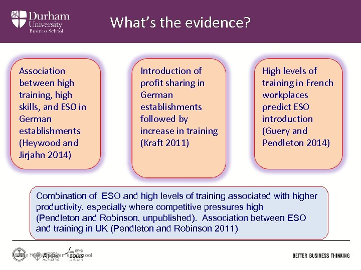 What's the evidence? Association between high training, high skills, and ESO in German establishments