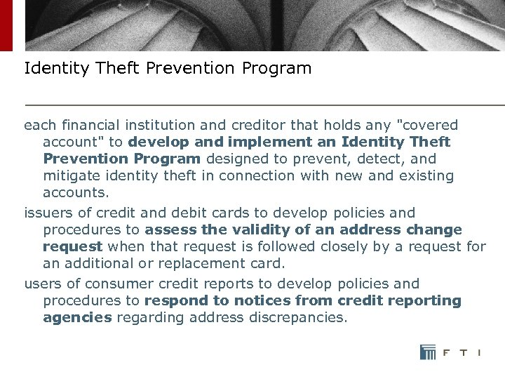 Identity Theft Prevention Program each financial institution and creditor that holds any