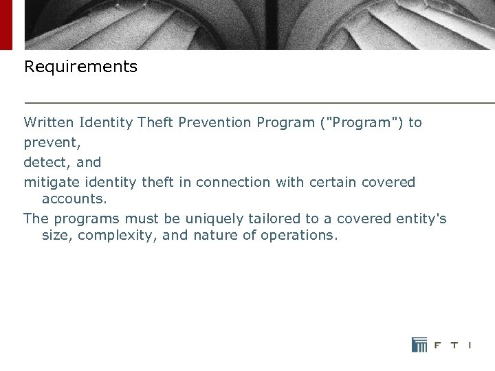 Requirements Written Identity Theft Prevention Program (