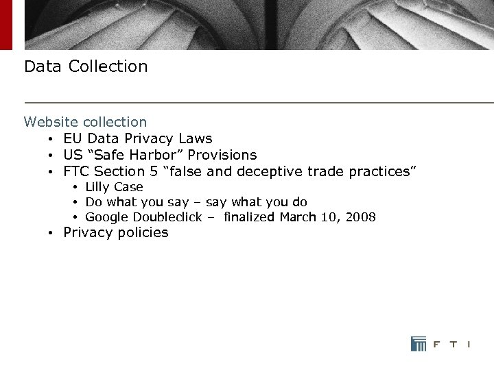 "Data Collection Website collection • EU Data Privacy Laws • US ""Safe Harbor"" Provisions"
