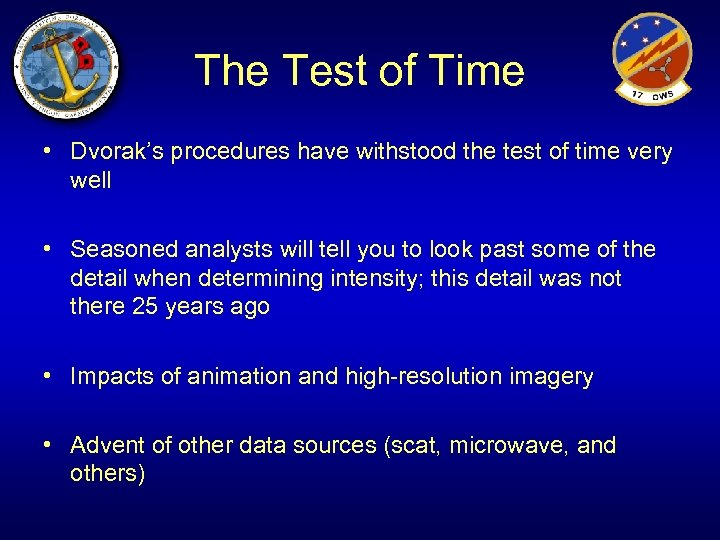 The Test of Time • Dvorak's procedures have withstood the test of time very
