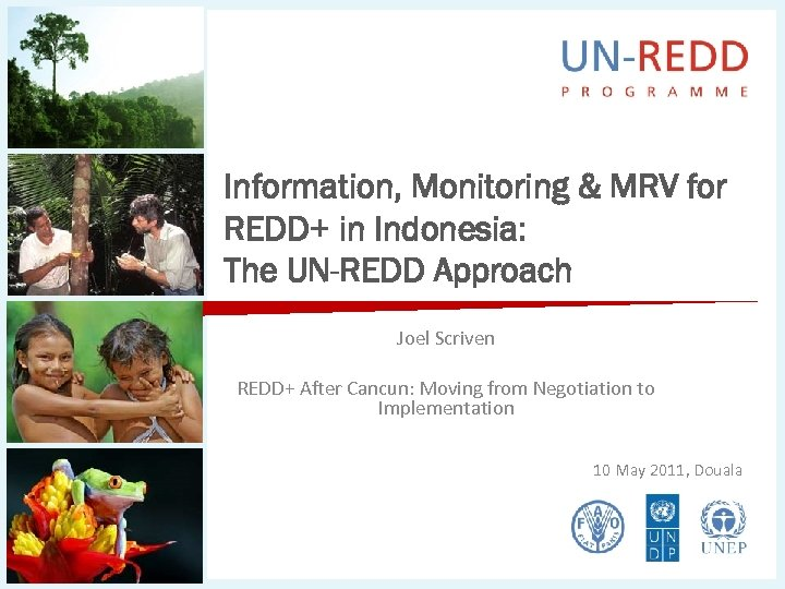 Information, Monitoring & MRV for REDD+ in Indonesia: The UN-REDD Approach Joel Scriven REDD+