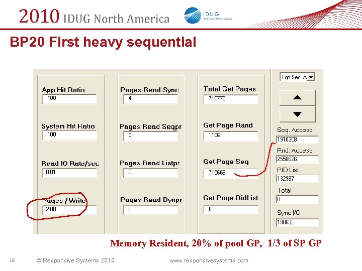 BP 20 First heavy sequential Memory Resident, 20% of pool GP, 1/3 of SP