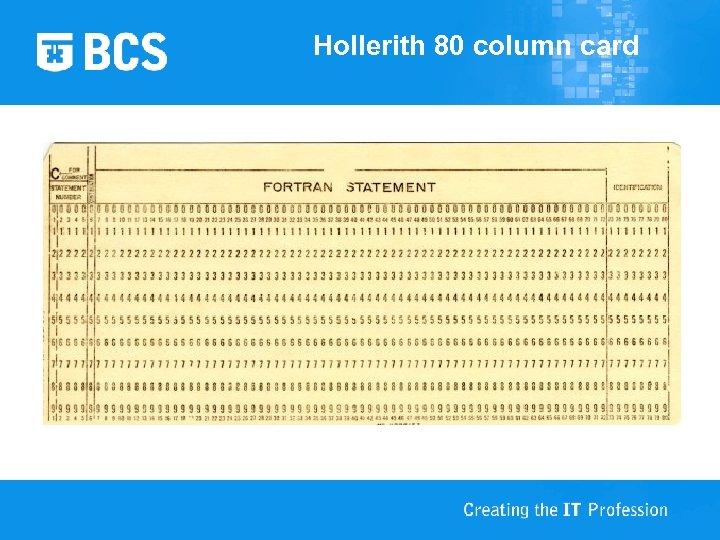 Hollerith 80 column card
