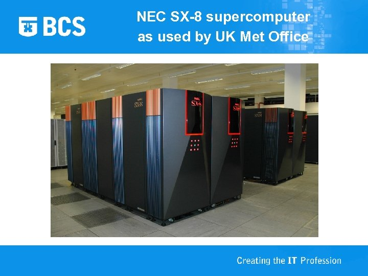 NEC SX-8 supercomputer as used by UK Met Office