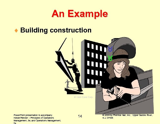An Example ¨ Building construction © 1995 Corel Corp. Power. Point presentation to accompany