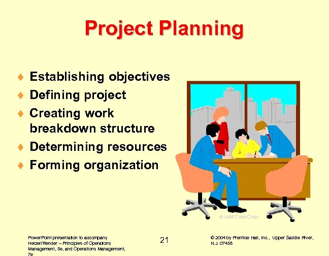 Project Planning ¨ Establishing objectives ¨ Defining project ¨ Creating work breakdown structure ¨