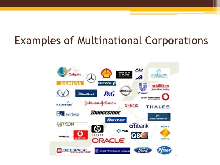 Examples of Multinational Corporations