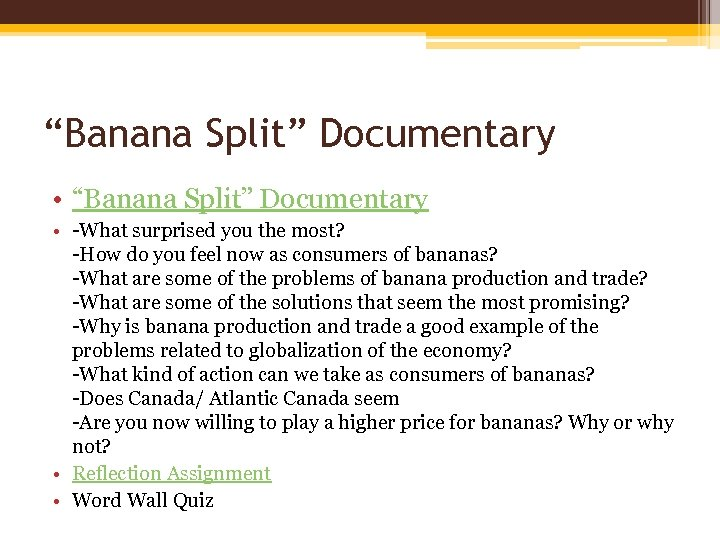 """Banana Split"" Documentary • -What surprised you the most? -How do you feel now"
