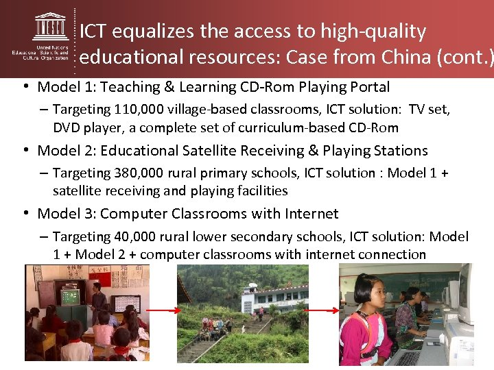 ICT equalizes the access to high-quality educational resources: Case from China (cont. ) •