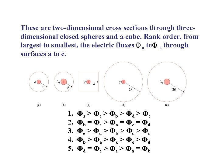 These are two-dimensional cross sections through threedimensional closed spheres and a cube. Rank order,