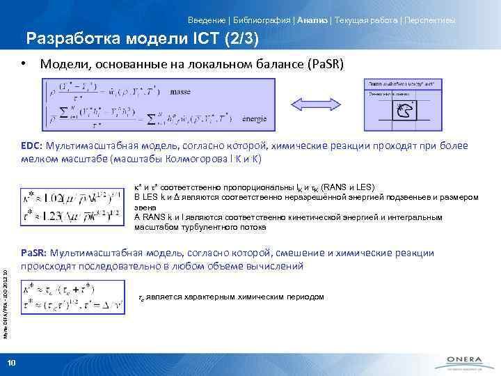 Введение   Библиография   Анализ   Текущая работа   Перспективы Разработка модели ICT (2/3)