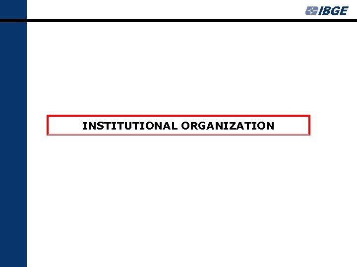 INSTITUTIONAL ORGANIZATION