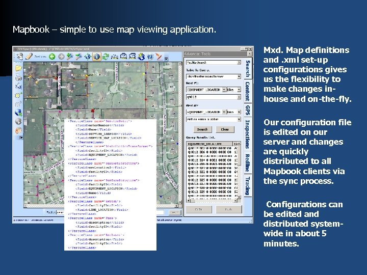 Mapbook – simple to use map viewing application. Mxd. Map definitions and. xml set-up