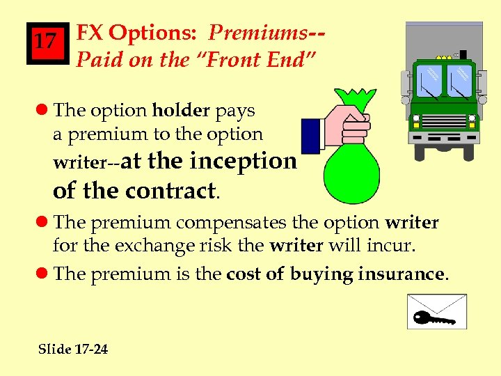 """17 FX Options: Premiums-Paid on the """"Front End"""" l The option holder pays a"""
