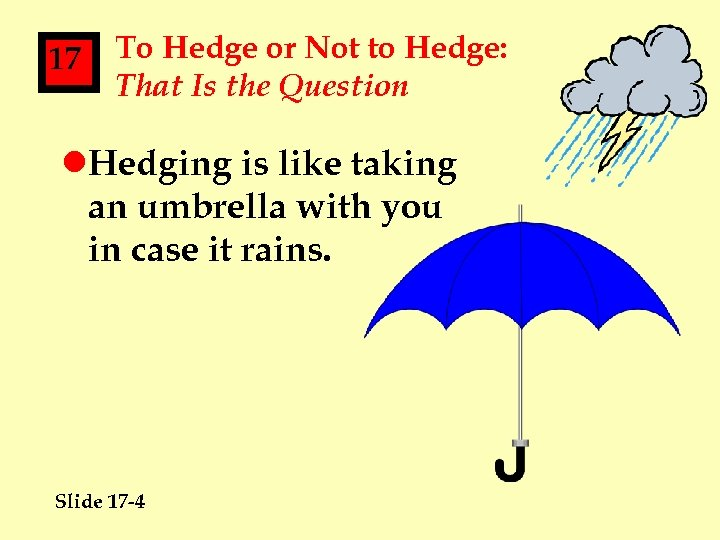 17 To Hedge or Not to Hedge: That Is the Question l. Hedging is