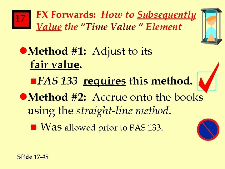 """17 FX Forwards: How to Subsequently Value the """"Time Value """" Element l. Method"""