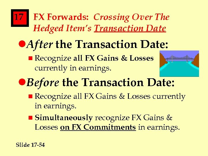 17 FX Forwards: Crossing Over The Hedged Item's Transaction Date l. After the Transaction