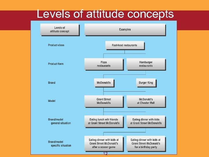 Levels of attitude concepts 12