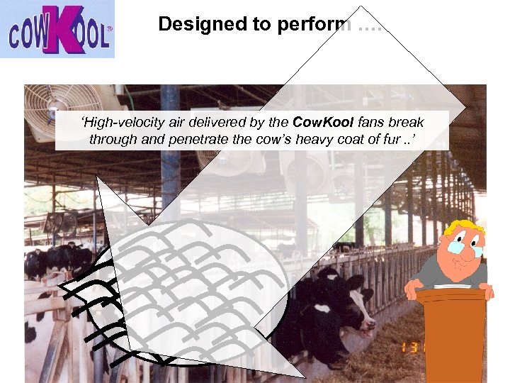 Designed to perform …. 'High-velocity air delivered by the Cow. Kool fans break through