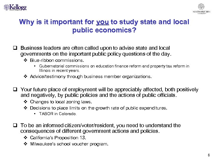Why is it important for you to study state and local public economics? q