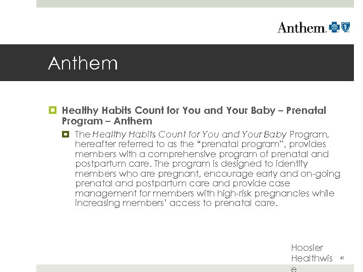 Anthem Healthy Habits Count for You and Your Baby – Prenatal Program – Anthem