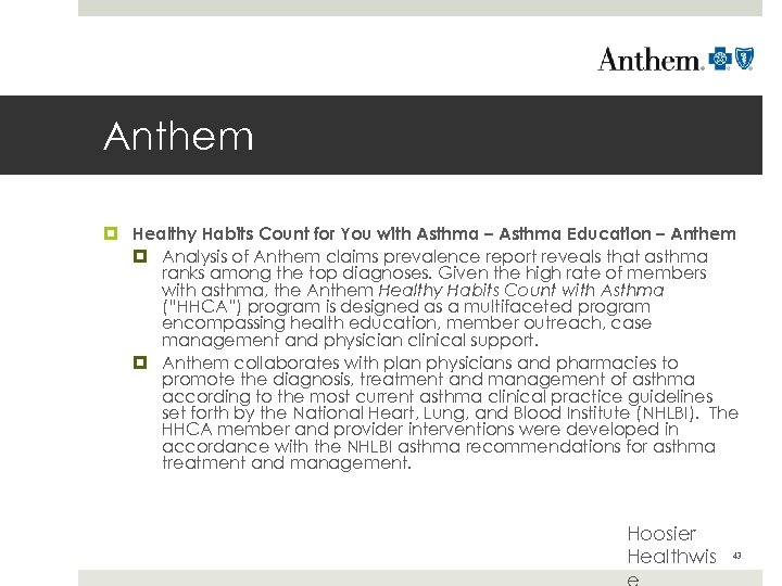Anthem Healthy Habits Count for You with Asthma – Asthma Education – Anthem Analysis