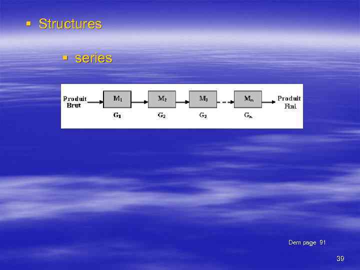 § Structures § series Dem page 91 39