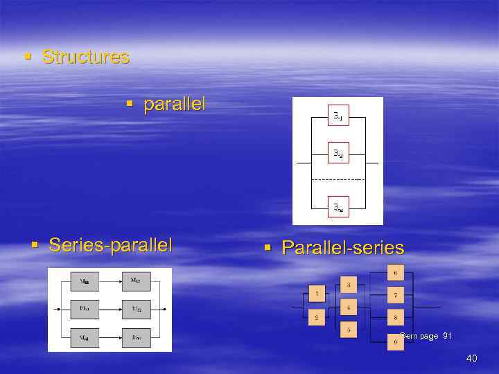 § Structures § parallel § Series-parallel § Parallel-series Dem page 91 40