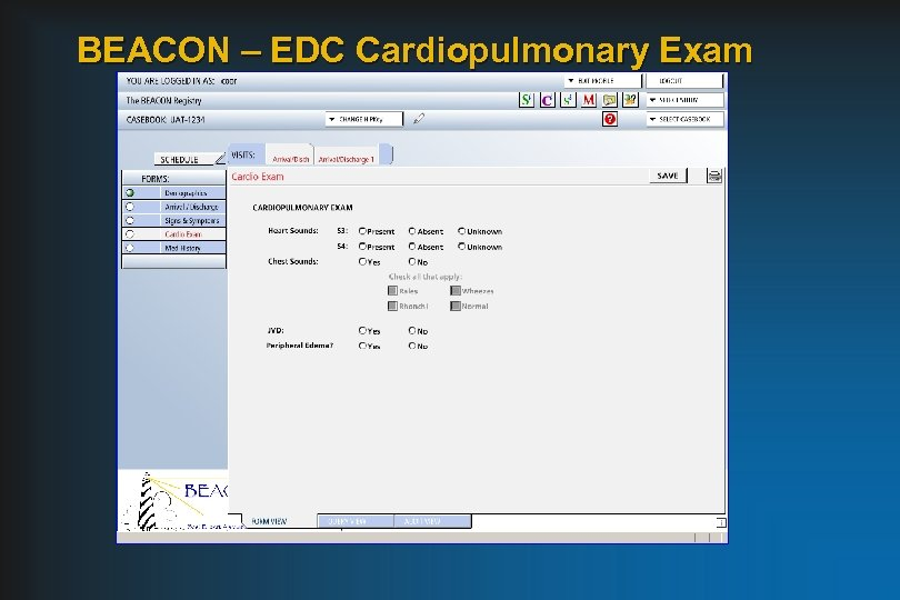 BEACON – EDC Cardiopulmonary Exam