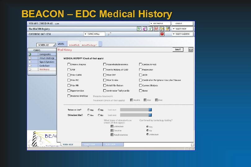 BEACON – EDC Medical History