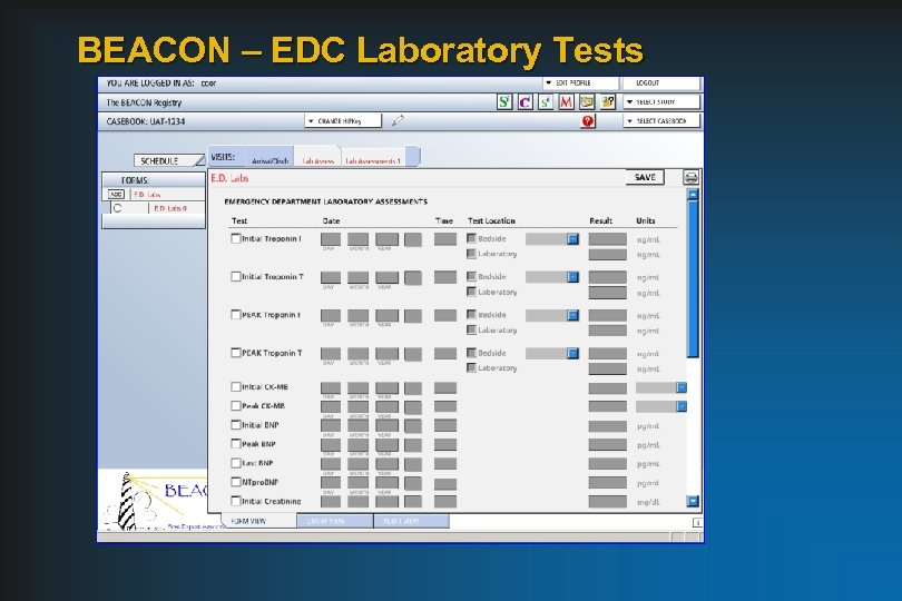 BEACON – EDC Laboratory Tests