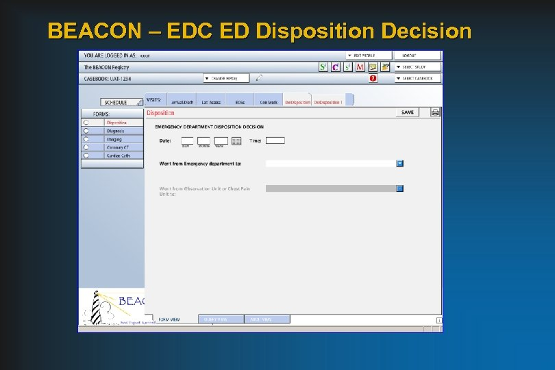 BEACON – EDC ED Disposition Decision