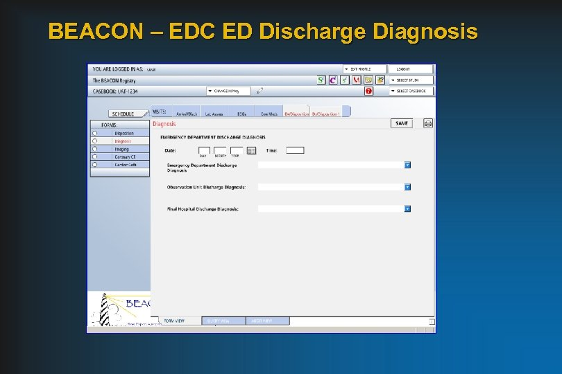 BEACON – EDC ED Discharge Diagnosis