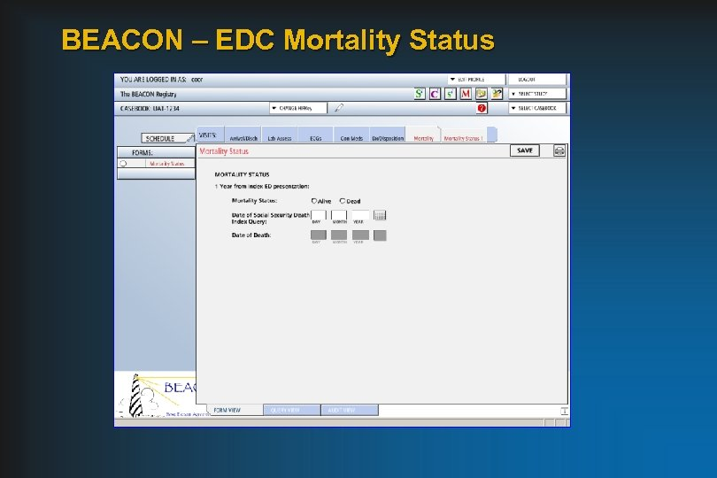 BEACON – EDC Mortality Status