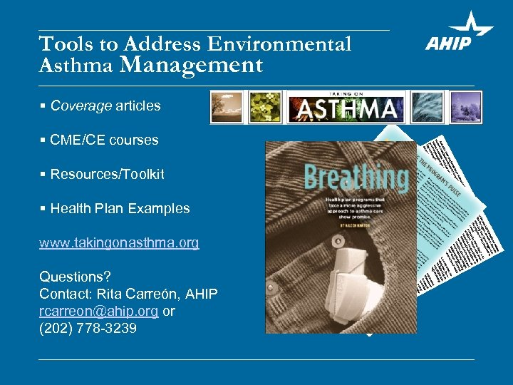 Tools to Address Environmental Asthma Management § Coverage articles § CME/CE courses § Resources/Toolkit