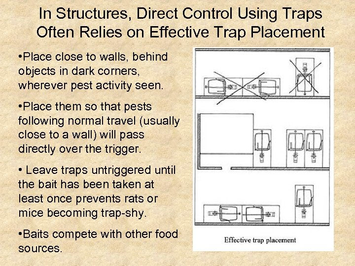 In Structures, Direct Control Using Traps Often Relies on Effective Trap Placement • Place