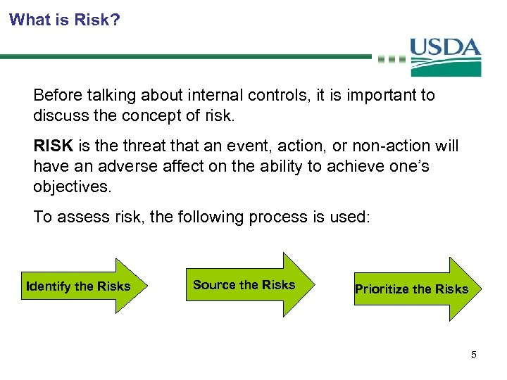 What is Risk? Before talking about internal controls, it is important to discuss the
