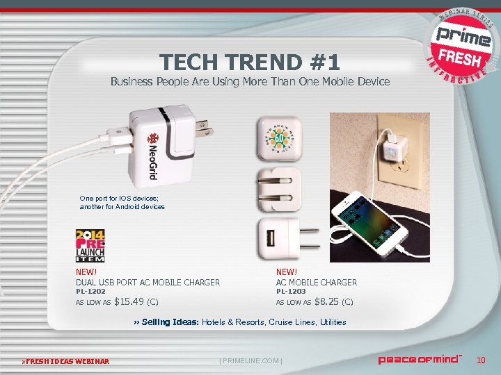 TECH TREND #1 Business People Are Using More Than One Mobile Device One port