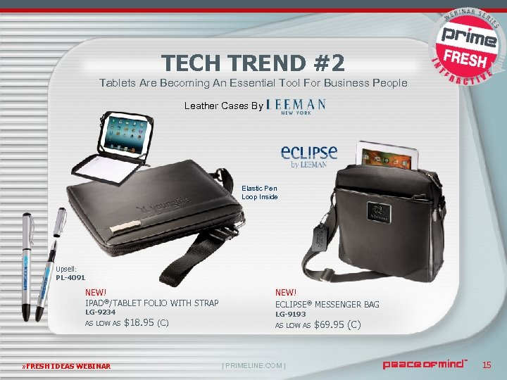 TECH TREND #2 Tablets Are Becoming An Essential Tool For Business People Leather Cases