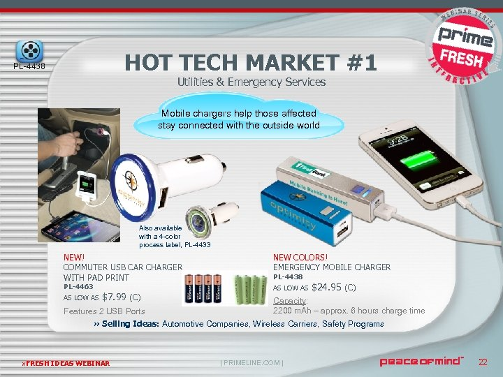 HOT TECH MARKET #1 PL-4438 Utilities & Emergency Services Mobile chargers help those affected