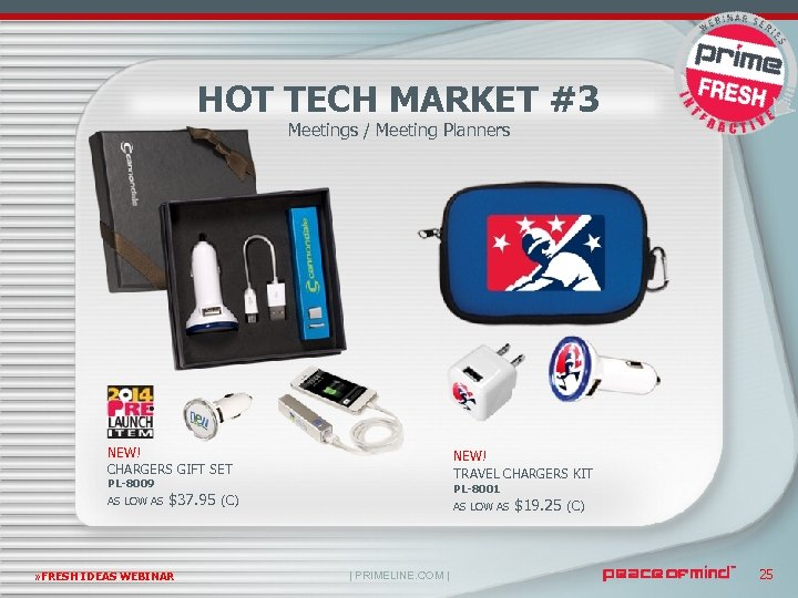HOT TECH MARKET #3 Meetings / Meeting Planners NEW! CHARGERS GIFT SET NEW! TRAVEL
