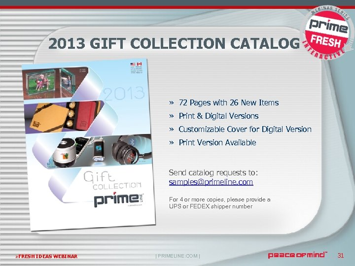 2013 GIFT COLLECTION CATALOG » 72 Pages with 26 New Items » Print &