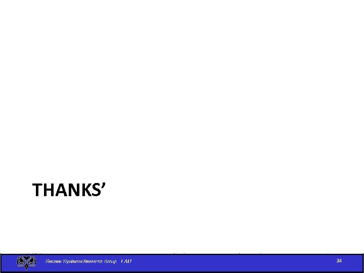 THANKS' 24