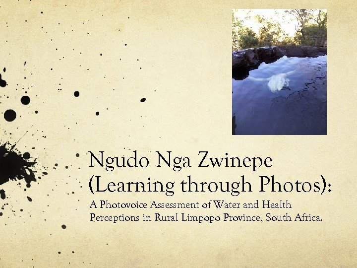 Ngudo Nga Zwinepe (Learning through Photos): A Photovoice Assessment of Water and Health Perceptions